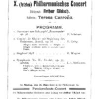 Saal der Singakademie (March 12, 1906)
