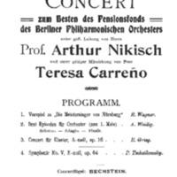 Saal der Singakademie (April 5, 1909)