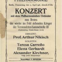 Saal der Singakademie (April 13, 1916)