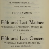 Carnegie Hall (March 23, 1899)